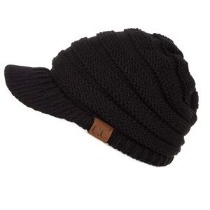 c.c beanie, black, new with tags